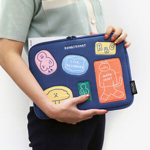 "10"" 11"" DONATDONAT Friends Tablet ipad Padded Pouch Sleeve Bag Pen Holder Pocket"