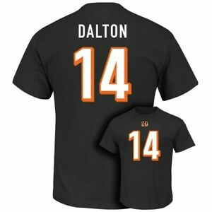 Andy Dalton Cincinnati Bengals Mens Medium Majestic T-Shirt Jersey Black NFL Tee