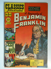 Classics Illustrated #65, Benjamin Franklin, HRN 65, VG/Fine, 5.0, OWW Pages