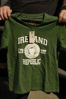 Ireland T shirt new w tags Mint Green Irish Connexxion Dublin raised letters