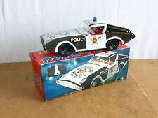 vintage tin toy PLASTICART made in ddr - coupe POLICE CAR (? DATSUN 240Z ?) 70s