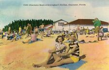 Clearwater Beach at Everingham's Pavilion in Clearwater FL 1959