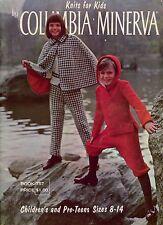 Vtg Knitting Patterns Columbia Minerva Child Cape Coat Aran Nordic Sweaters VTNS
