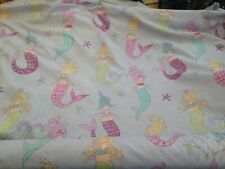 8 Metres Pretty Girly Mermaid Design Cotton Curtain Fabric  Lilac