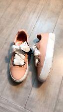 ZARA Women's Sneakers with grommets detail(Pink, US  8/EUR  39)