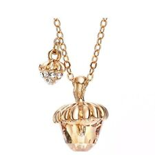 Champagne Gold Austria Crystal Chain Necklace Fruit Pendant Women Gift Jewellery