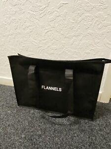Flannels Shoulder Bag Black With Storage And Flat Bottom