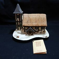 WINTER REUGE MUSIC BOX MEDIEVAL ENGLISH COUNTRY CHURCH PAULINE RALPH MUSICAL