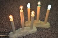Set 2 Vintage Christmas 3-Light Electric Candoliers Plastic Dripping Candles