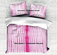 Indian Comforter Cover Tie Dye Duvet Cover Shibori Quilt Cover & 2 Pillow Cover