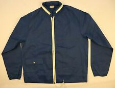 Mc Gregor Windbreaker Track Jacket M Medium Blue Hooded Full Zip Pocket Workout