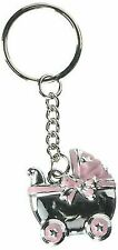 Pink Baby Shower Favors: Girls Baby Carriage Keychains