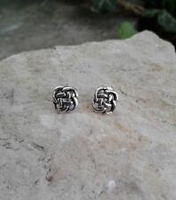 Celtic Knot Earrings, Solid Sterling Silver Celtic Stud Earrings, Irish Jewelry