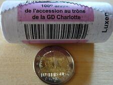 """Luxembourg 2019 1 pièce 2€ """"100 anniv de l'accession au trône de GD Charlotte"""""""
