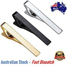 Luxury Mens Gold Silver Stainless Slim Tie Pin Clip Clasp Bar office Christmas