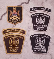 British Columbia Sheriff & Commercial Vehicle Safety Enforcement patch lot