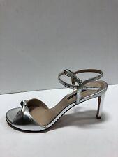 Stuart Weitzman Gloria 80 Womens Heel Silver Metallic 8.5 M