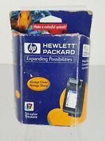 Genuine OEM HP C6625AN Tri-Color Ink Jet Cartridge 17 New in Box