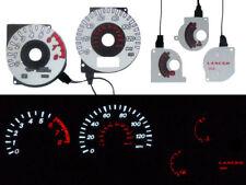 JDM Evo Style White Black Glow Gauge Face Overlay For 02-05 Mitsubishi Lancer OZ