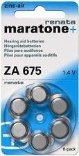 Air Hearing Aid Pack of 6 pcs Renata Hearing Aid Battery Za 675 Maratone Zinc