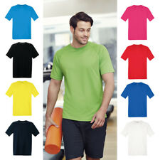 Mens Breathable T Shirt Wicking Cool Dry Running Gym Top Sports Performance FOTL