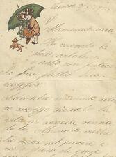 Lettera Illustrata Malinconica inviata da Treviso alla Mamma Lontana 1923