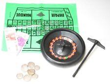 6x Roulette mit Spielgeld Casino Gesellschaftsspiel Mitgebsel Tombola Reisespiel