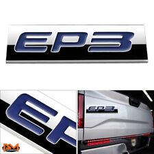 """EP3"" Polished Metal 3D Decal Blue Emblem Exterior Sticker For 01-05 Honda Civic"