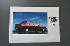 Sales Brochure: Peugeot 306 Petrol & Diesel Saloon Sedan, SL Models, 1994