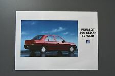 FOLLETO de ventas: Peugeot 306 Gasolina & Diesel Saloon Sedan, Sl Modelos, 1994