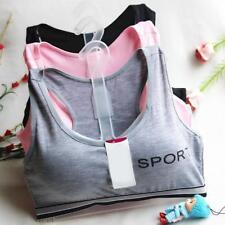Damen Sport-BH Top Push Up Sports Bra BH Bustier Tops Vest Yoga-Underwear.D V4Z1