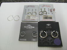 Stud, hoops, And Dangle earrings 5960 Old Pawn Sterling Silver