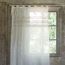 Gardine Vorhang creme weiss Landhaus Shabby 140 x 290 Leinen BW Mariclo