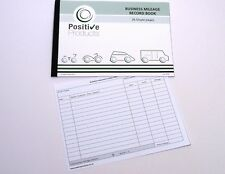 Mileage Record Book HMRC Compliant 26 Single Pages Mileage Log Pad