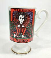 Vintage VIRGO ZODIAC Smug Mug Handpainted Numbered Elena Royal Crown BEAUTIFUL!