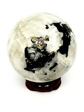 Rainbow Moonstone Crystal Ball Genuine Gemstone Scrying Sphere 52mm 165g & Stand