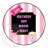 Mothers Day Movie Night Popcorn Family Film Cinema Sweet Cone Party Kids Labels