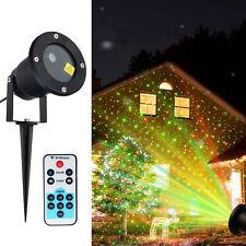 Christmas Waterproof Outdoor LED Laser Projector Garden Flash Star Night Lights