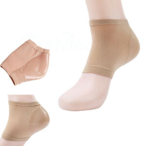 1 Paar Silikon Gel Fersenschutz Fersensocke Fersenbandage Fersenkissen Fußpflege