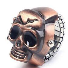 Gothic Skull Unisex Punk Party Gift Man Quartz Design Watch Finger Ring