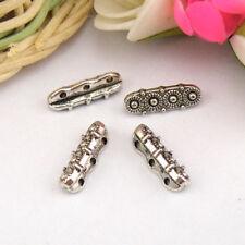 12Pcs Tibetan Silver,Gold,Bronze 3 Holes Flower Spacer Beads Connectors M1152