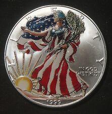 1999 COLORIZED SILVER AMERICAN EAGLE 1 OZ BULLION COIN  LOT 200828