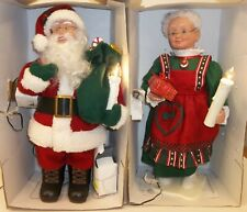 "Holiday Creations 18"" Santa & Mrs. Claus Animated Christmas Motionettes Set of 2"
