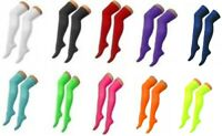 Ladies Girls Long Over The Knee Plain Cotton Socks Attractive Colours Fashion
