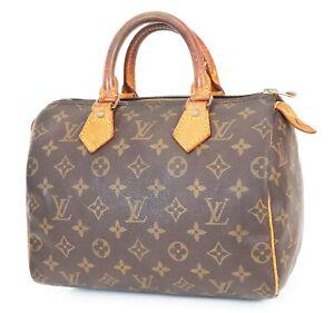 Authentic LOUIS VUITTON Speedy 25 Monogram Boston Handbag Purse #39067