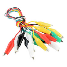 5 color crocodile clips alligator test lead wire for circuit experiment 10pcs 1