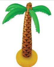INFLATABLE PALM TREE BLOW UP HAWAII SUMMER LUAU BEACH PARTY FANCY DRESS 90CM NEW