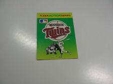 1990 Fleer Baseball Logo Stickers Minnesota Twins Baseball Quiz on back