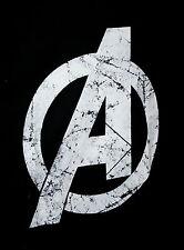 Marvel Comics Avengers A Logo Black T-Shirt New LG Mad Engine