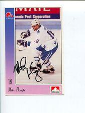 Mike Hough Quebec Nordiques Star Signed Autograph Photo